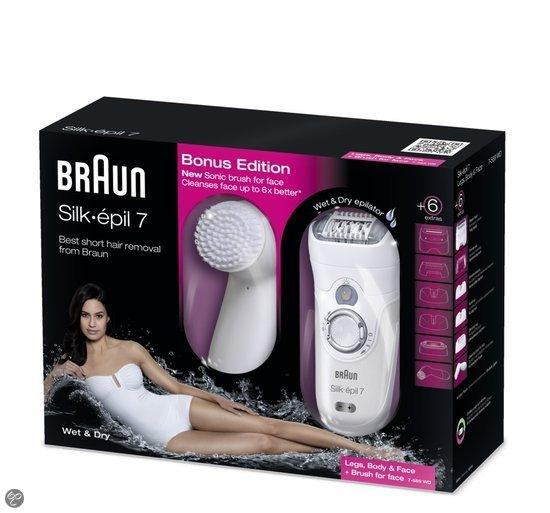 Braun Silk-épil  7 7569 inclusief reinigende gezichtsborstel - Epilator