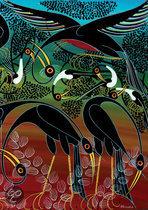 Heye Puzzel - Tinga Tinga African Art: Cranes