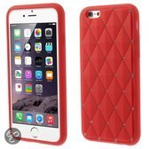 KEES Chester Stars Gel Hoesje Apple iPhone 6 - Rood
