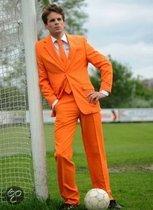 Oranje kostuum inclusief stropdas 48 (m)