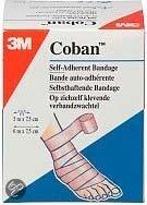 3M Coban Zelfklevend Zwachtel  - Verband