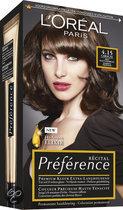 L'Oréal Paris Préférence Récital - 4.15 Caracas Diep Kastanjebruin - Haarkleuring