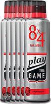 8x4 Play the Game (for men) - 150 ml - Deodorant 6 st - Voordeelverpakking