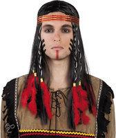 Pruik indiaan met hoofdband Cheveyo