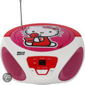 Hello Kitty AM/FM CD Boombox met iPod Ingang