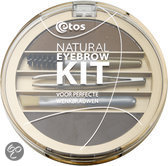 Etos Natural Eyebrow Kit 002 - Grijs - Wenkbrauwmake-up