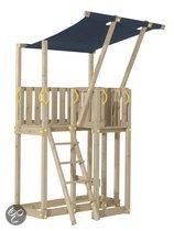 Blue Rabbit houten speeltoestel KIT Mezzanine inclusief KBT aanbouwglijbaan 300 cm