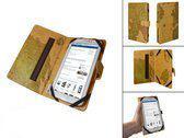 Luxe Book Cover voor Easypix Smartpad Ep750 met retro wereldkaart, , merk i12Cover