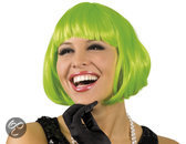 Pruik Cabaret Groen