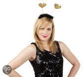 Tiara Glitter met Gouden Hartjes