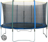 Game on Sport Mega Flash Trampoline 396 met Net