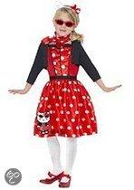 Hello Kitty retro jurkje 128-140 (7-9 jaar)