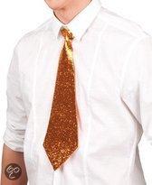 Oranje glitter stropdas
