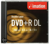 Imation Dvd+R DI 8 X 10 Pk slim - 8.5gb