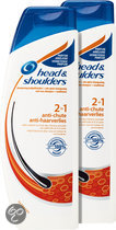 HEAD & SHOULDERS  2in1 Anti Haaruitval Shampoo & Conditioner - 2 st - Voordeelverpakking