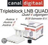 Canal Digitaal Lnb Triple quad Astra 1/2/3 - Satellietontvanger Astra 1, 2 en 3 met schotel vanaf 65 cm