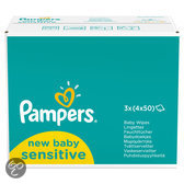 Pampers Sensitive - Maximum care Doekjes Navulpak 12x50 Doekjes