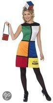 Rubiks kubus jurk met hoed en tas 36-38 (s)