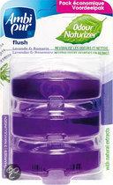 Ambi Pur Flush Lavendel & Rozemarijn Toiletblok Navulverpakking - 4 st a 55 ml
