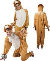 Pluche Leeuw - Kostuum - Maat XL