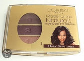 Loreal Oogschaduw Made For Me Naturals Trio Oogschaduw No.406 Dark Skin Tones