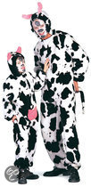 Carnavalskleding dierenpak Koe plusch koeienpak kind Maat 98