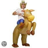 Opblaasbare paarden - Kostuum - One size - Bruin