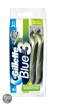 Gillette Blue III Sensitive - 4 st - Wegwerpmesjes