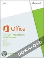 Microsoft Office Home and Student 2013 directe download versie