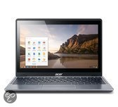 Acer C720P 29554G03aii - Chromebook Touch - Zwart - Azerty-laptop