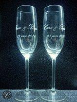 Laser-Art Champagneglas 2 Champagneglazen graveren