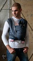 ByKay - Geweven DENIM Draagdoek - Dark jeans maat 5