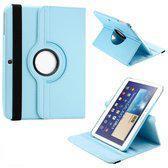 Samsung Galaxy Tab 3 10.1 Tablet Hoes cover 360 graden draaibaar met Multi-stand kleur Blauw