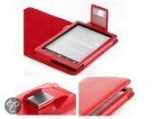 Hoesjes Boetiek Luxe hoes E-reader Sony PRS-T3(S) met led licht - Rood