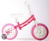 Dino Loopfiets 12 barbie roze wit
