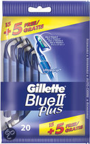 Gillette Blue II Plus - 15 + 5 st - Scheermesjes