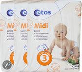 Etos Luiers Midi - 3 x 42 st - Mijn Baby