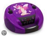 Portable Radio en CD Speler Elfjes/Fairy - Paars