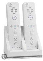 Bigben Oplaadstation Wit / Zwart Wii + Wii U