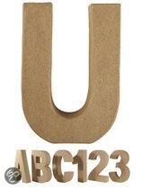 Papier mache letter U