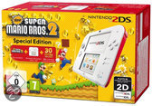 Nintendo 2DS Wit + Rood + New Super Mario Bros. 2 + alle 30 extra Muntenjachtlevels - Special Edition