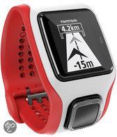 TomTom Multi-Sport Cardio - GPS Sporthorloge - wit/rood