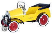 Metalen Trapauto Gele Classic Car