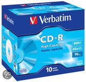 Verbatim 43428 CD-R High Capacity Schijven - 10 Stuks / Jewelcase