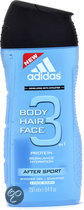 Adidas After Sport Hair & Body 3 - 250ml - Douchegel