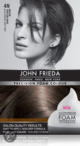 John Frieda Precision Foam Colour 4N Dark Natural Brown - Haarkleuring