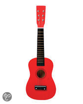 Gitaar - Rood + Draagriem