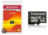 Transcend 8 GB Bulk Micro SDHC Geheugenkaart