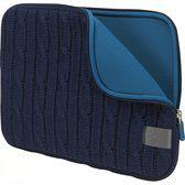 Case Logic, Lifestyle Nylon Notebooksleeve Apple 13 inch Brei-patroon motief Blauw