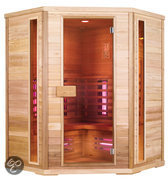 Exclusive Red Ceder Five full-spectrum sauna: 150 x 150 x 200 cm
